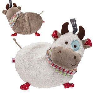 Bouillotte peluche Vache à chauffer au micro-onde, 23 cm