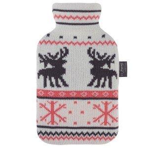 Bouillotte à eau façon tricot col roulé et motifs norvégiens, 2L