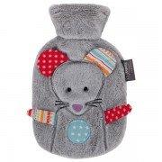 Bouillotte à eau grise Souris ultra-douce pour bébé et enfant - 0,8l