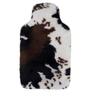 Bouillotte à eau Fausse Fourrure vache, douceur et originalité, 2 litres