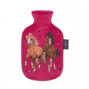 Petite Bouillotte à eau rose chevaux, bébé et enfant - 0,8l