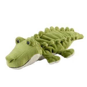 Petite Bouillotte Crocodile à chauffer au micro-onde - 20 cm
