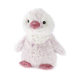 Peluche pingouin déhoussable bouillotte micro-onde