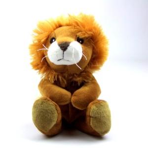 Mini bouillotte peluche lion marron déhoussable pour bébé