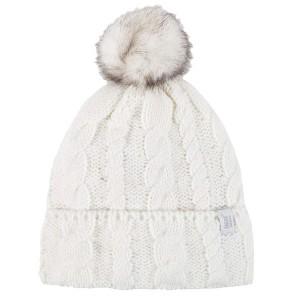 Bonnet ultra chaud femme crème avec pompon Heat Holders