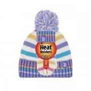 Bonnet et mouffles multicolore ultra chaud enfant avec pompon Heat Holders