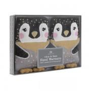 2 chaufferettes gel pour chauffer les mains en 1 clic Pingouin