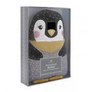 Bouillotte Pingouin avec graine de Tourmaline et parfum lavande - 23 cm
