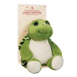 Bouillotte enfant tortue verte déhoussable, 29 cm