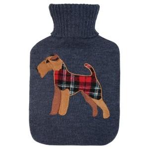 Bouillotte à eau façon tricot chien 2 litres