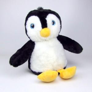 Bouillotte peluche Pingouin tourmaline et parfum lavande - 26 cm