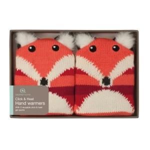 Duo de chaufferette gel pastille mains Renard tricot