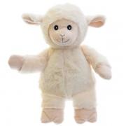 Peluche chauffante micro-onde Mouton Blanc déhoussable