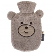 Bouillotte à eau grise Ours douce pour bébé et enfant - 0,8l