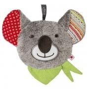 Peluche chauffante Koala grise aux noyaux de cerise, 16 cm