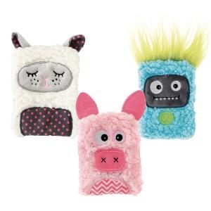 Chaufferette animaux doux à caliner cochon, mouton, monstre