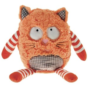 Bouillotte peluche Chat roux orange à caliner 25 cm