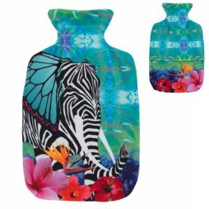 Bouillotte à eau Elephant Pop Art velours 2l