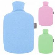 Bouillotte à eau Bioplastique Rigide et housse polaire 1,6l