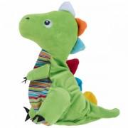 Peluche bouillotte Dragon vert 29 cm