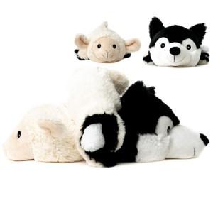 Bouillotte Peluche Duo Loup et Mouton avec capuche