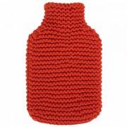 Bouillotte à eau Rouge façon tricot, 2L