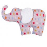 Bouillotte éléphant à pois, déhoussable en coton bio 30 cm