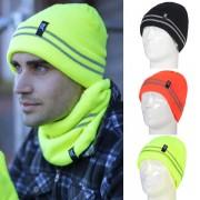 Bonnet ultra chauds avec bandes reflechissantes Homme