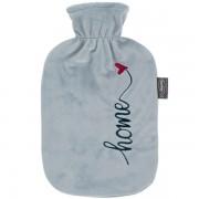 Bouillotte à eau velours gris Home 2 litres
