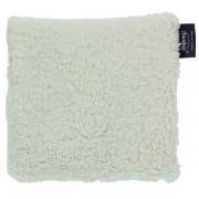 Bouillotte coussin aux noyaux de cerises en tissu recyclé 17x18cm