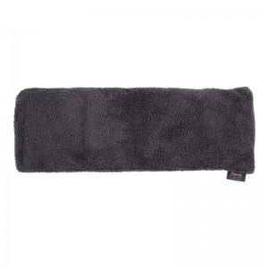 Long coussin chauffant gris, housse amovible - 50 cm