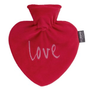 Bouillotte Coeur et sa housse rouge, 0,7 litre