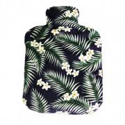 Bouteille chauffante motif tropical pour soulager les douleurs 22x17cm