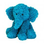 Peluche chauffante éléphant bleu