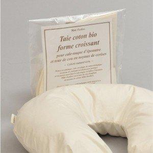 Housse taie croissant coton bio pour tour de cou