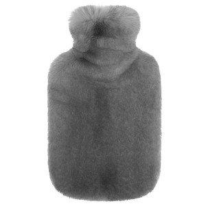 Bouillotte à eau Fausse Fourrure Luxe Grise, Helen Moore, 2 litres