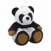 Peluche bouillotte micro-onde Panda noir et blanc pour enfant