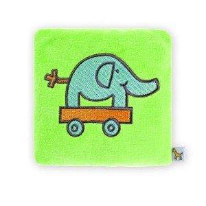 Bouillotte bébé elephant pour coliques du nourisson, graines de colza, 15x15 cm