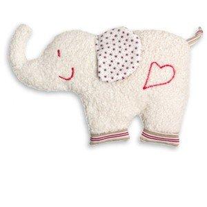 Bouillotte noyaux de cerise éléphant et coton bio 30 cm