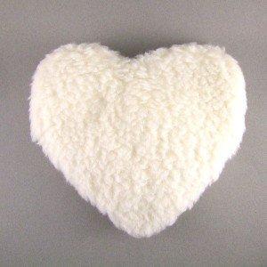 Bouillotte coeur laine noyaux de cerise - 26cm