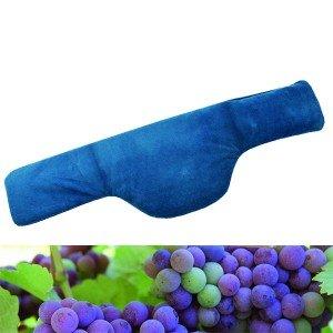 Bouillotte nuque chauffante microfibre 58x16cm en pépins de raisins