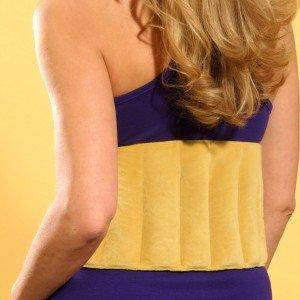 Bouillotte ceinture lombaire bas de dos en graines à réchauffer