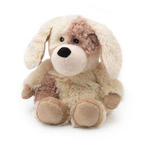 Mini peluche chauffante bouillotte petit chien