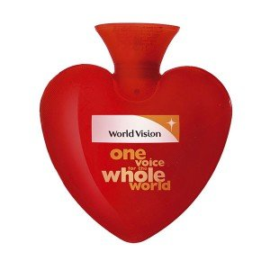 Bouillotte à eau coeur rouge personnalisable, 0,7 litres