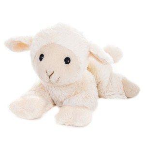 Mouton crème allongé bouillote enfant pour micro-ondes