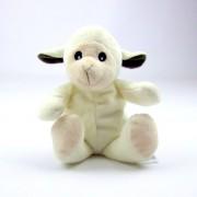 Mini bouillotte mouton blanc, peluche micro-ondable déhoussable