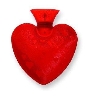 Bouillotte à eau coeur rouge 0.7l - 23 cm