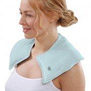 Tour de cou chauffant pour soulager épaules et nuque, bleu clair déhoussable