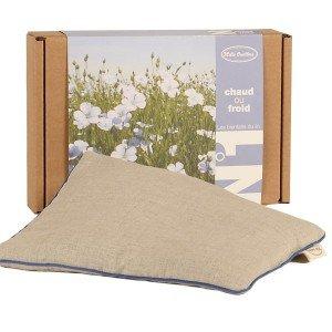 Bouillotte en lin et graines de lin - 22x18cm
