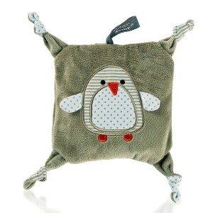 Bouillotte pour bébé pingouin avec graines de colza, 15 cm